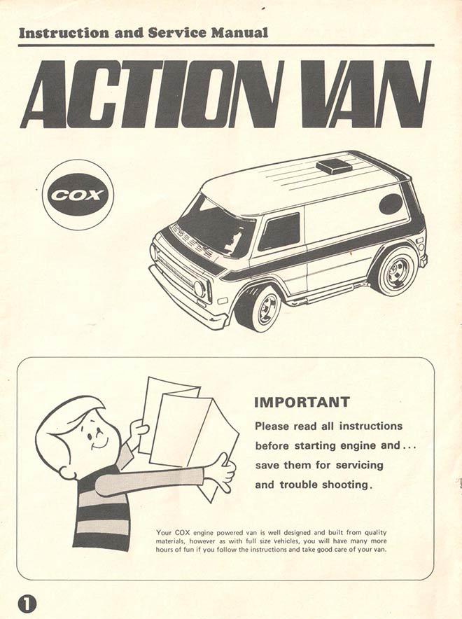 Action Van - Cox (1976) INSTRUCTIONS
